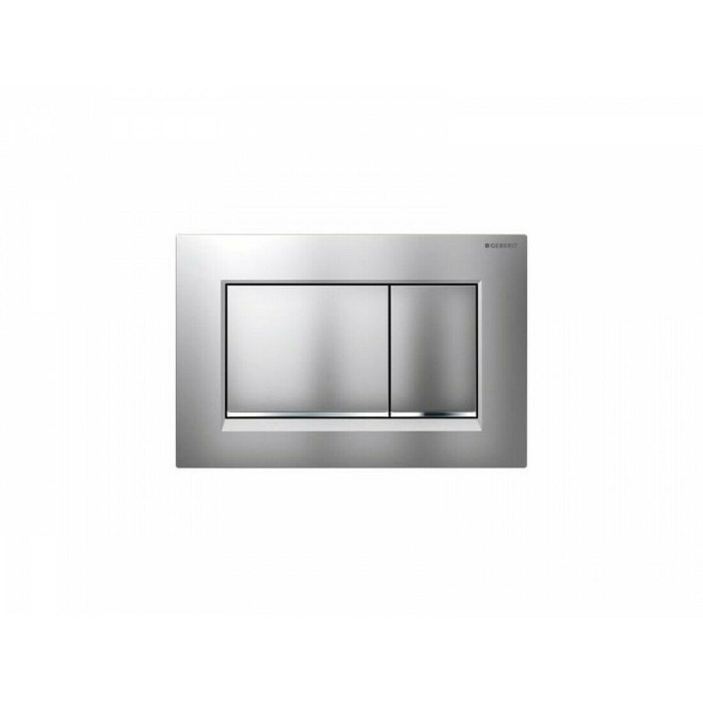 Geberit Sigma30 Dual Flush Plate Matt Chrome/Gloss Chrome - 115.883.KN.1