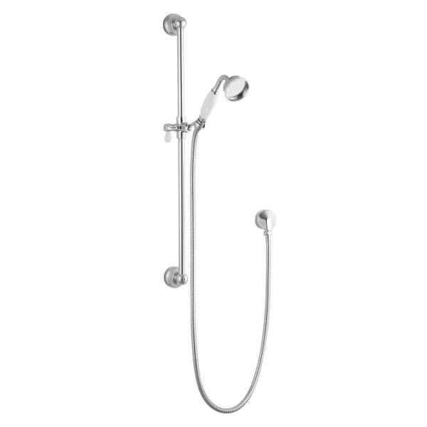 Traditional Brass Riser Rail Ceramic Shower Head - ABS0041