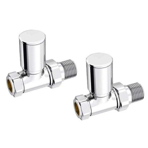 Kartell 15mm Straight Radiator Valves (Pair) - KART-STR
