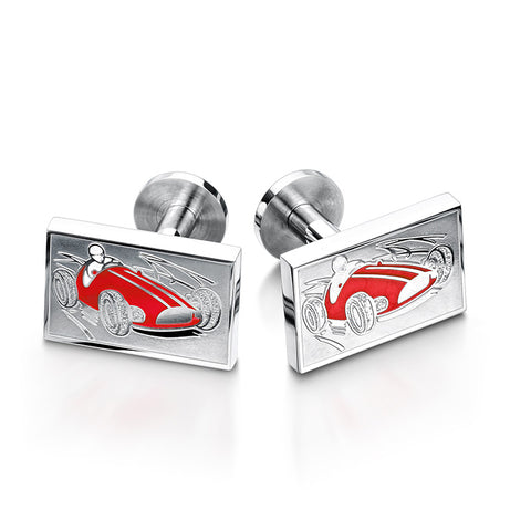 Red Monaco Car Cufflinks