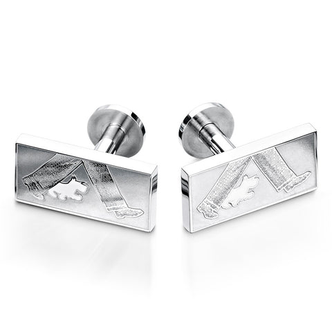 White Scotty Dog & Gent Cufflinks