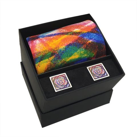 Colour Swirl Tie & Cufflink Set