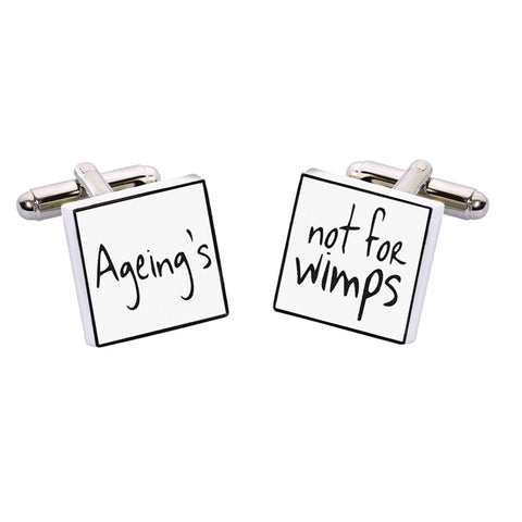 Ageing's not for Wimps Cufflinks