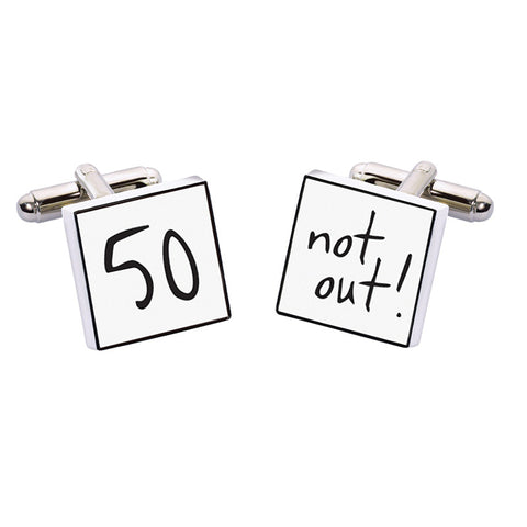 Sport Cufflinks - 50 Not Out