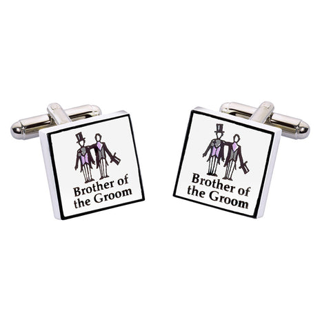 Brother of the Groom Cufflinks - Contemporary
