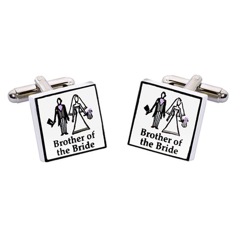 Brother of the Bride Cufflinks - Contemporary