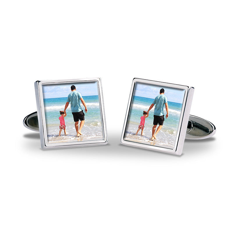 Personalised Photo Cufflinks - Father & Daughter