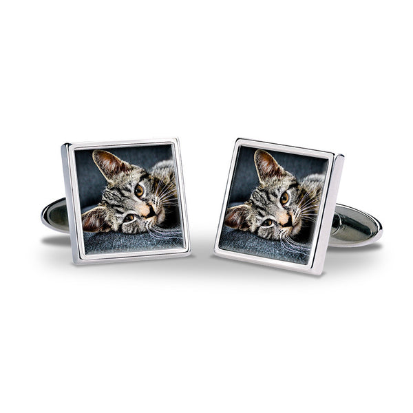 Personalised Photo Cufflinks - Pet 1
