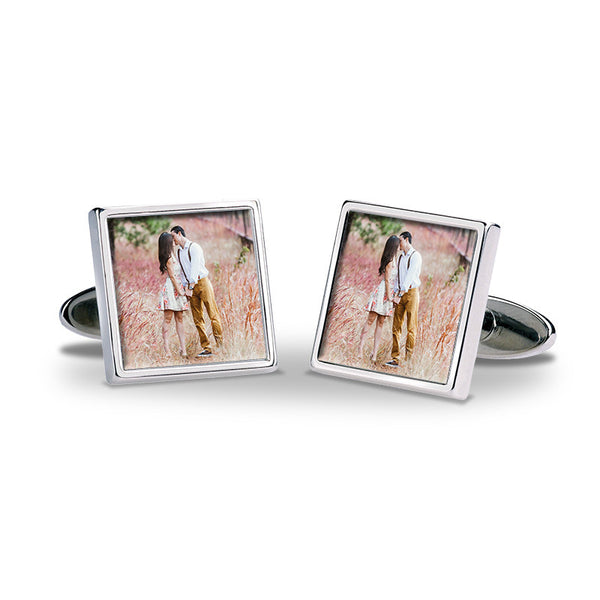 Personalised Photo Cufflinks - Couple