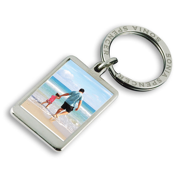 Personalised Photo Keyring - Father & Daughter