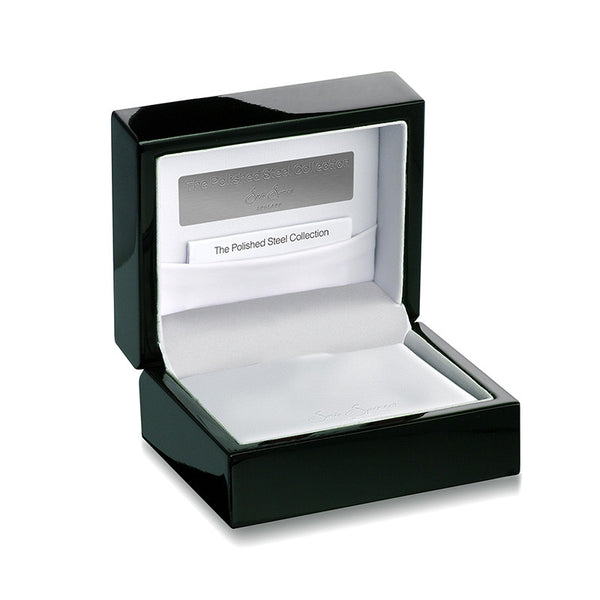 Polished Steel Collection Box - Open