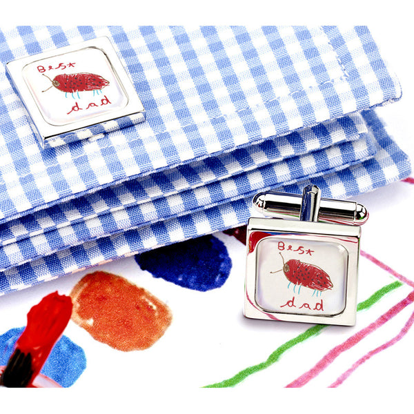 Talented Tots Cufflinks - Example 1 Product Shot