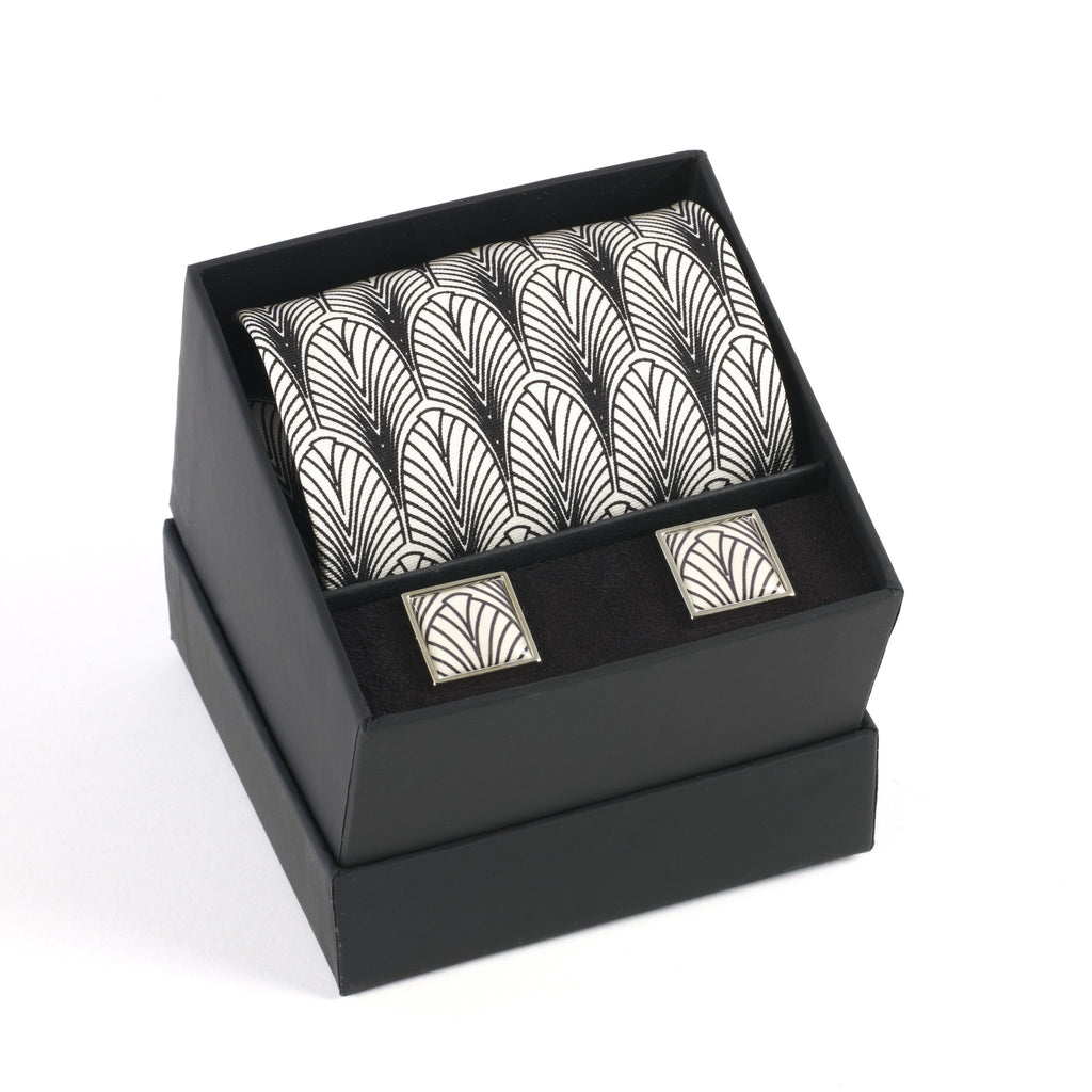 Deco New York Tie & Cufflink Set