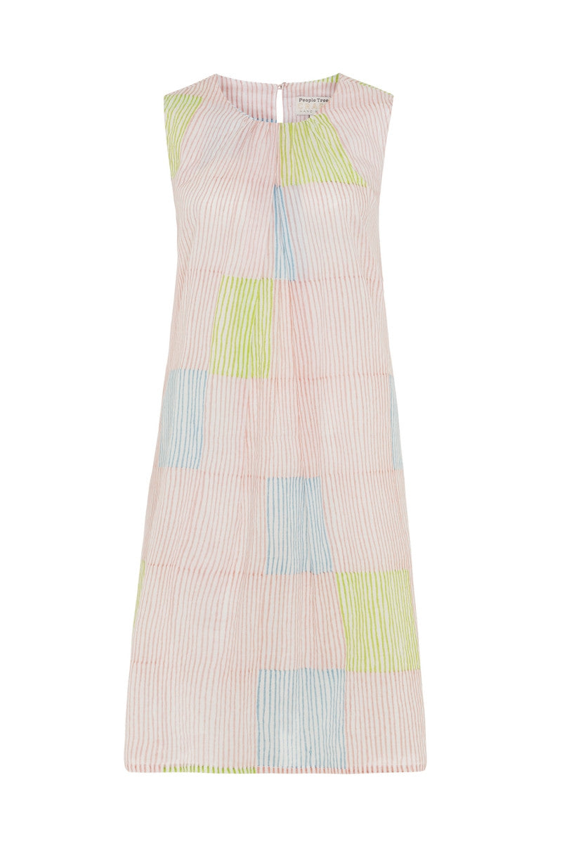 Multi Coloured Block Stripe Dress by People Tree