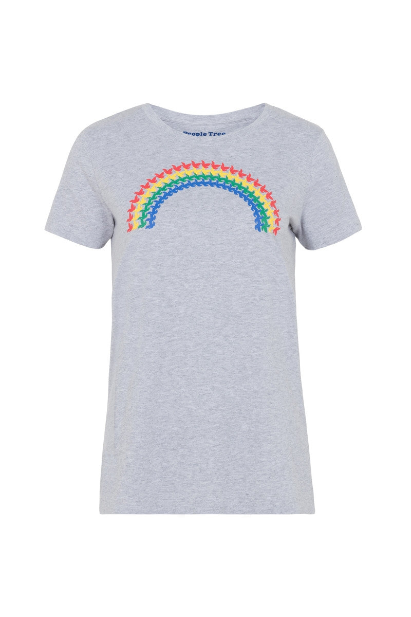 Rainbow Print Tee by People Tree