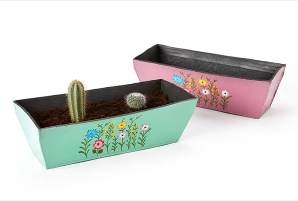 Rectangular Rubber Tyre Planter