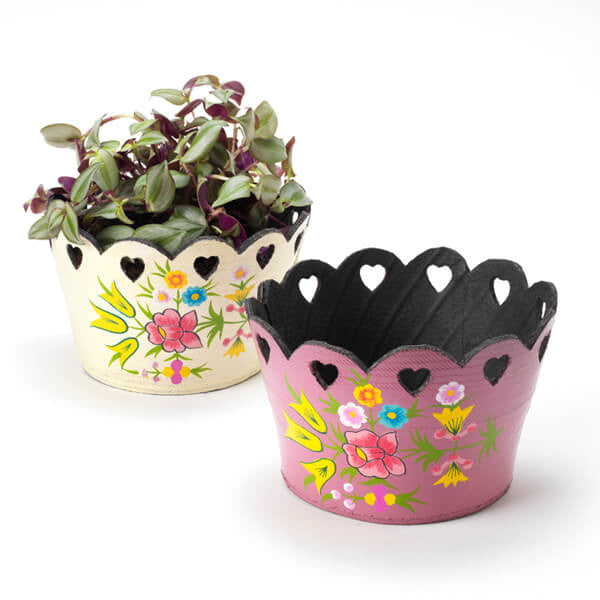 Rubber Tyre Planter with Hearts