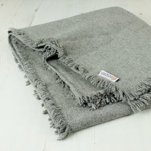 Light Grey Wool Throw by Respiin