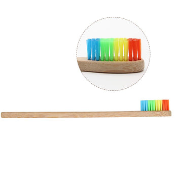 1 X Rainbow Bamboo Toothbrush