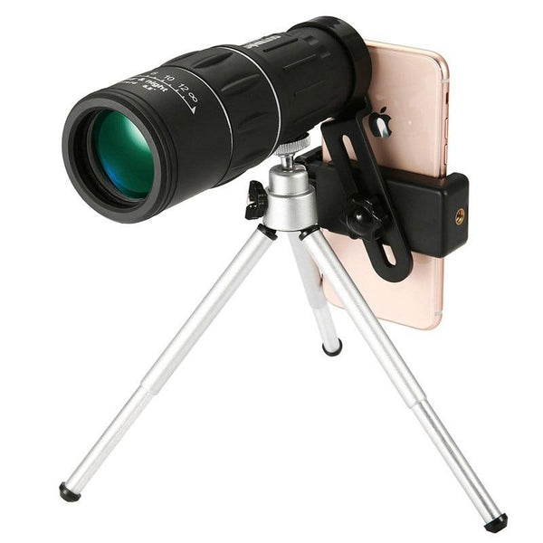 16X52 High Power Prism Monocular Telescope (Waterproof Fogproof Shockproof Scope)
