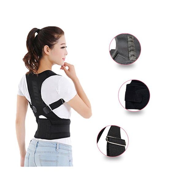 Magnetic Therapy Posture Corrector Brace Shoulder Back Support Belt For Men Women