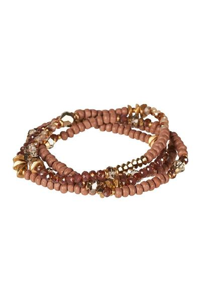 Eb & Ive Florence Bracelet Set - Blush