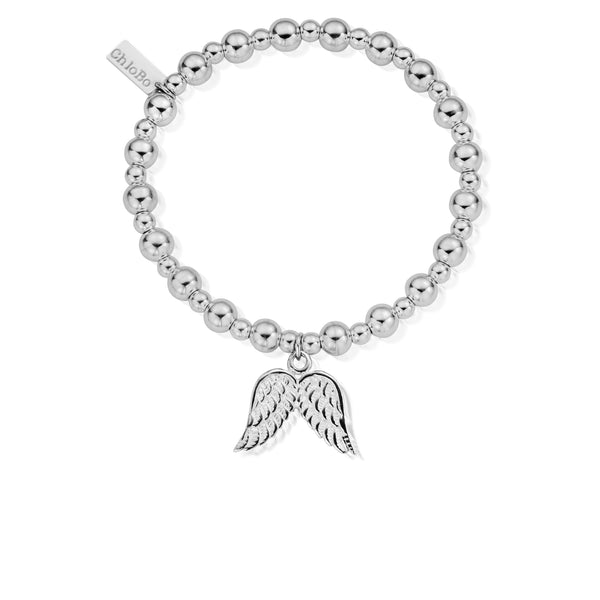ChloBo Mini Small Ball Double Angel Wing Bracelet SBMSB702 - Village Boutique