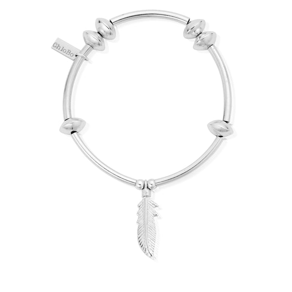 ChloBo Noodle Disc Feather Bracelet SBND706 - Village Boutique