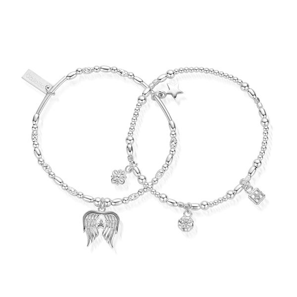 ChloBo Silver Starry Angel Set of Two SBSETA2921 - Village Boutique