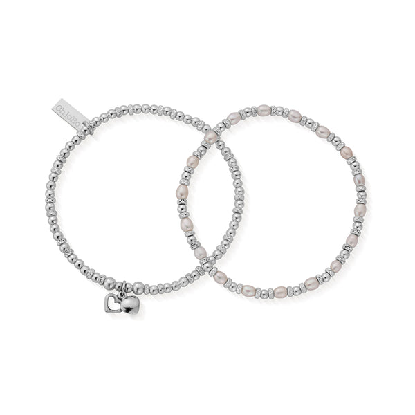 ChloBo Bridal Childrens Forever Love Set Of 2 Bracelets SBSETFOREVER15 - Village Boutique