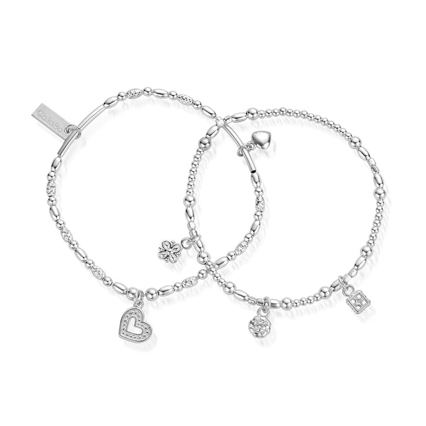 ChloBo Silver Heart & Soul Set of Two SBSETH2898 - Village Boutique