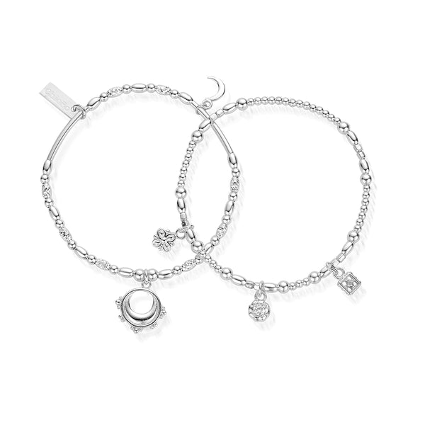 ChloBo Silver Half Moon Set Of Two SBSETM2939 - Village Boutique