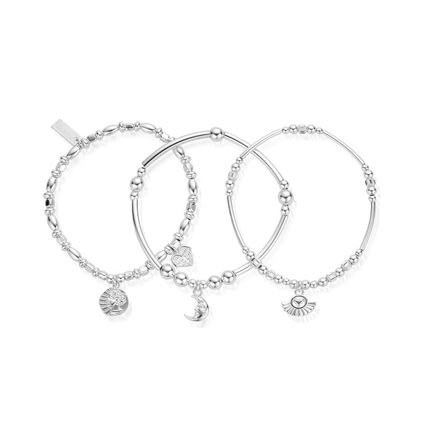 ChloBo Silver Venetian Set Of 3 SBSTA3A - Village Boutique
