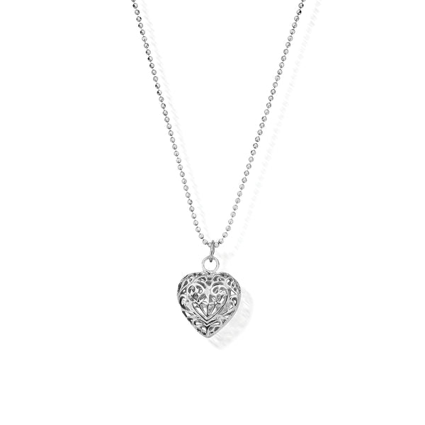 ChloBo Diamond Cut Chain With Filigree Heart Pendant SCDC1050 - Village Boutique