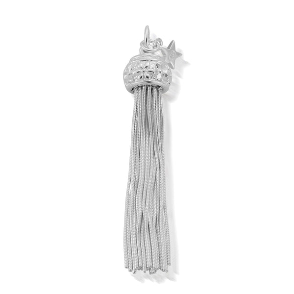 ChloBo Silver Large Flower Tassel Pendant SP331 - Village Boutique