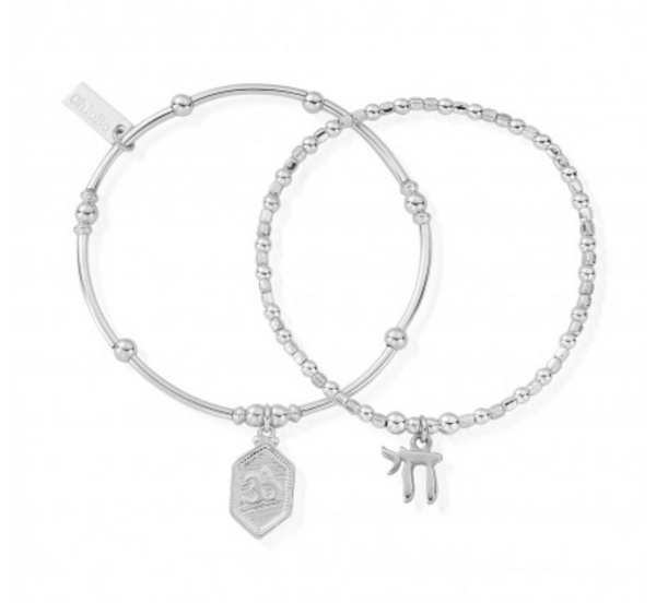 ChloBo Spiritual Set Of Two Bracelets SBSET910674 - Village Boutique
