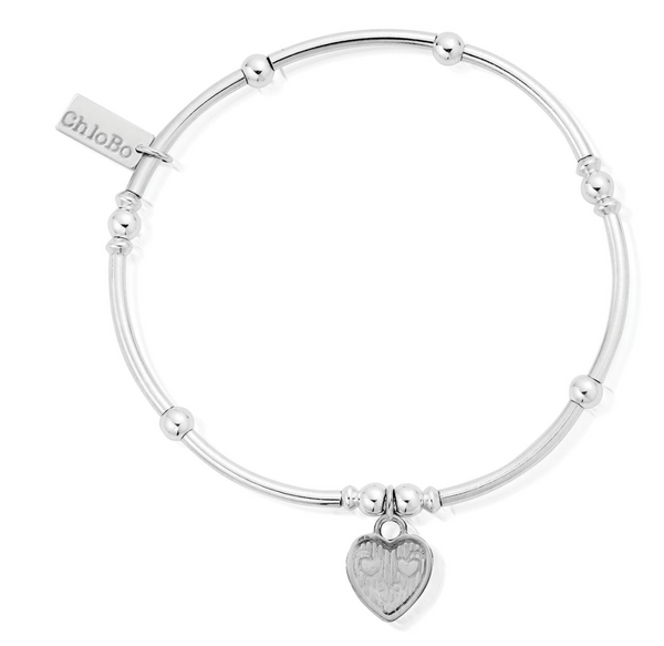 Chlobo Mini Noodle Ball Tri-Heart Bracelet SBMNB005 - Village Boutique