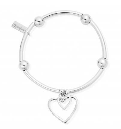 ChloBo Noodle Ball Double Heart Bracelet SBNB007028 - Village Boutique