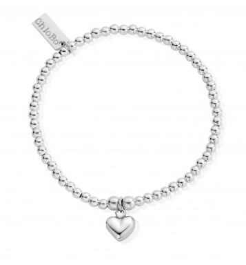 ChloBo Cute Charm Puffed Heart Bracelet SBCC023 - Village Boutique