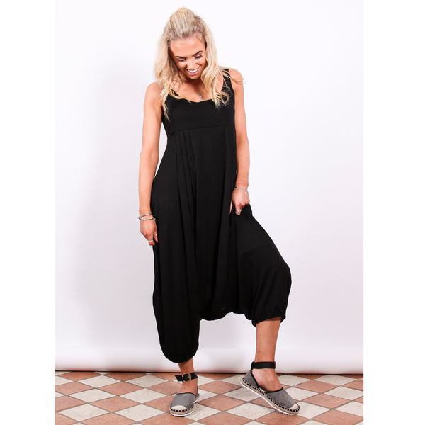 Harem Jumpsuit - Black - Village Boutique