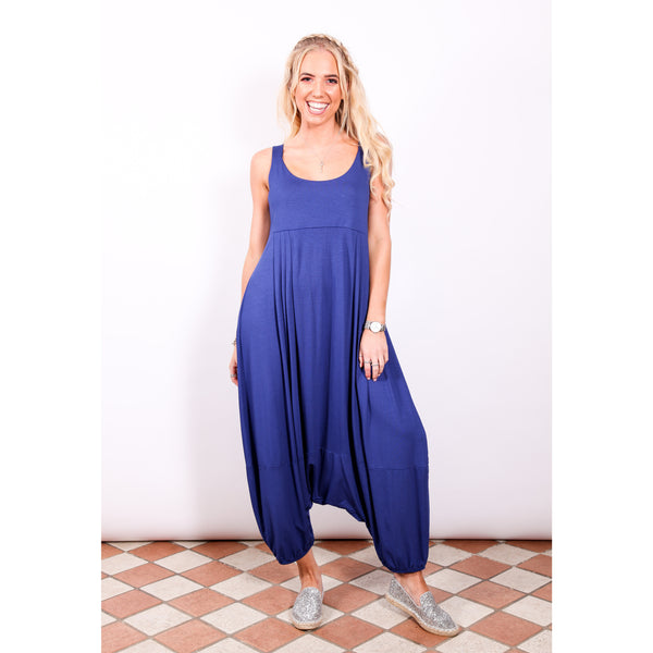 Harem jumpsuit - Cobalt Blue - Village Boutique
