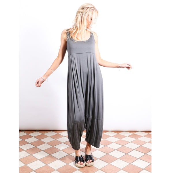 Harem Jumpsuit - Charcoal Grey - Village Boutique