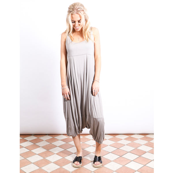 Harem Jumpsuit - Taupe - Village Boutique