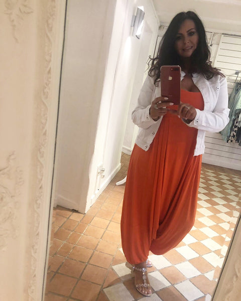 Harem Jumpsuit - Orange - Village Boutique