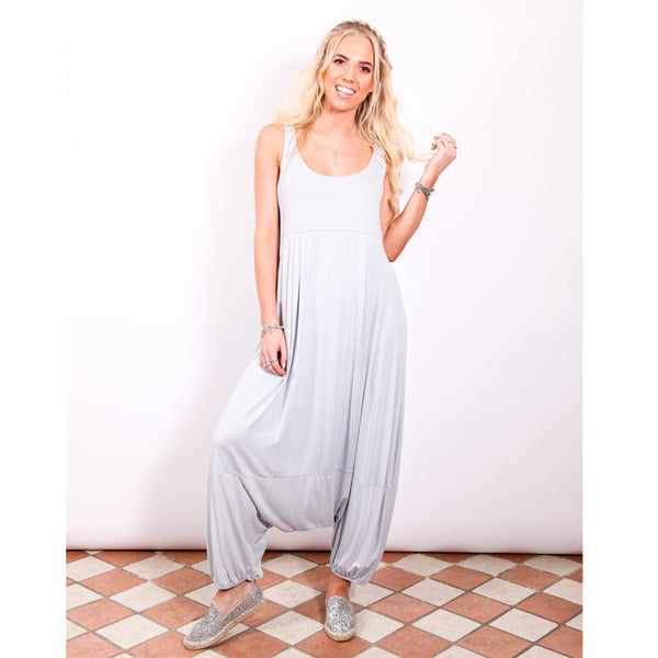 Harem Jumpsuit - Light Grey - Village Boutique