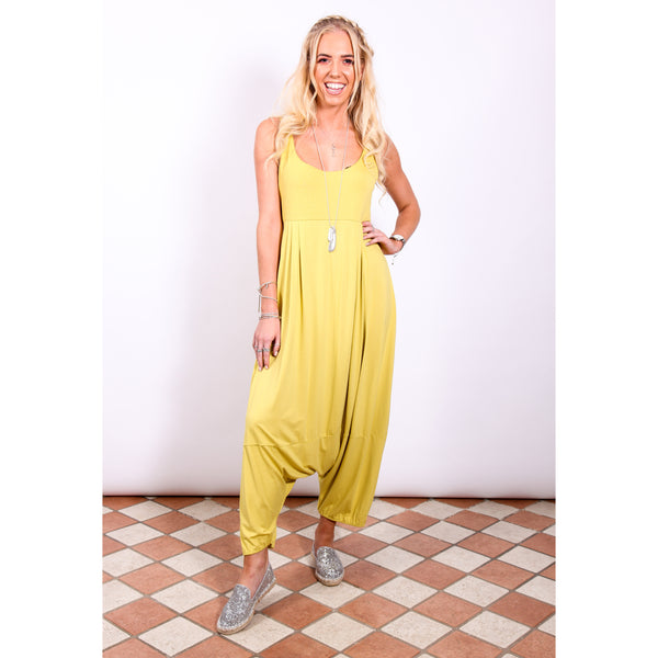 Harem Jumpsuit - Lime - Village Boutique