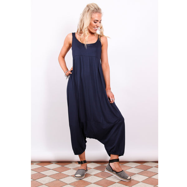 Harem Jumpsuit - Navy - Village Boutique