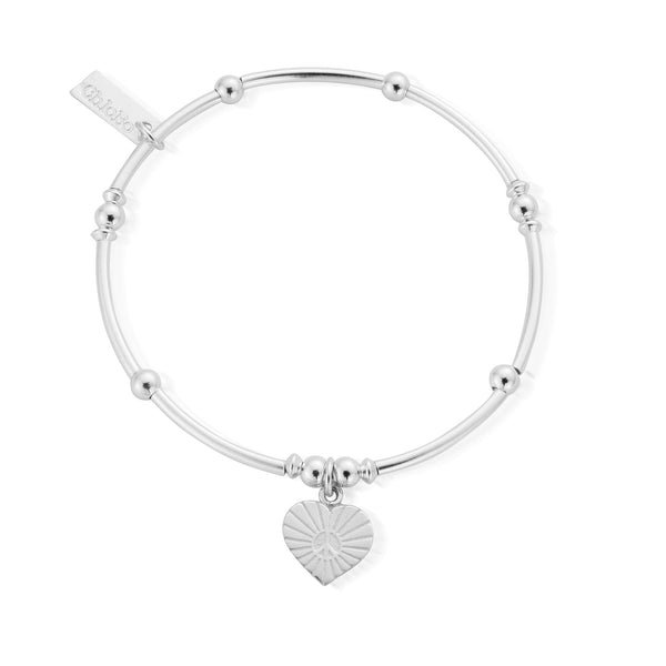 ChloBo Mini Noodle Ball Sunray Heart Bracelet - SBMNB130 - Village Boutique