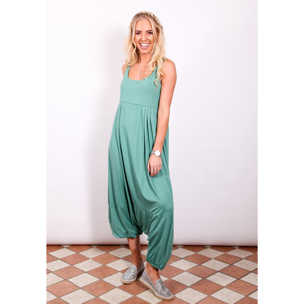 Harem Jumpsuit - Teal - Village Boutique