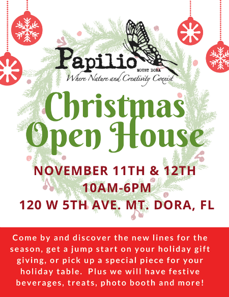 Your Invited!  Christmas Open House November 11th & 12th